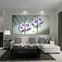 Modern fashion wall art pictures home decoration 3 Pcs/set HD print oil painting on canvas abstrct nice love
