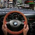 5 Colors Universal Car Ice Silk fibre Steering Wheel Cover Auto Elastic Skidproof 38CM Summer Helper Cool Hot Selling