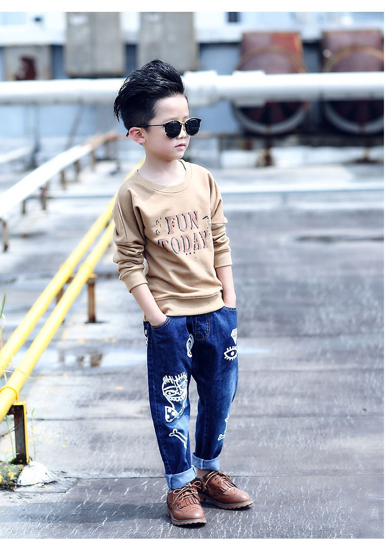 high quality fashion 2017 children jeans for boys kids scrawl pattern denim pants clothing children baby little big boy jeans clothes 6 7 8 9 10 11 12 13 14 15 16 years old (15)