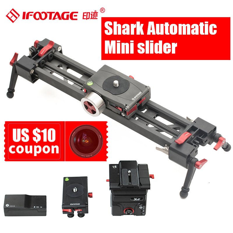iFootage Shark automatic Mini camera slider extendable video dolly track Portable bag for DSLR Camcorders Motor 3 Axis optional
