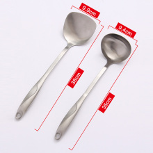 ORZ 304 Stainless Steel Solid Soup Spoon Ladle Turner Set Scoops Turner Spatula Pot Shovel Sauces Spoon Kitchen Cooking Utensils