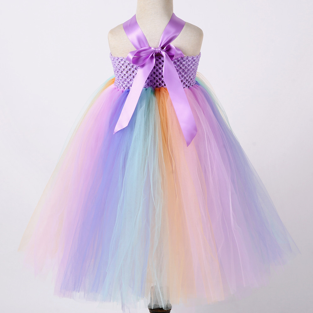 Pastel Unicorn Clothes Girl Summer Long Ankle Length Sleeveless May Little Pony Costume Dress for Girls Party Dresses Age 10 12 (4)