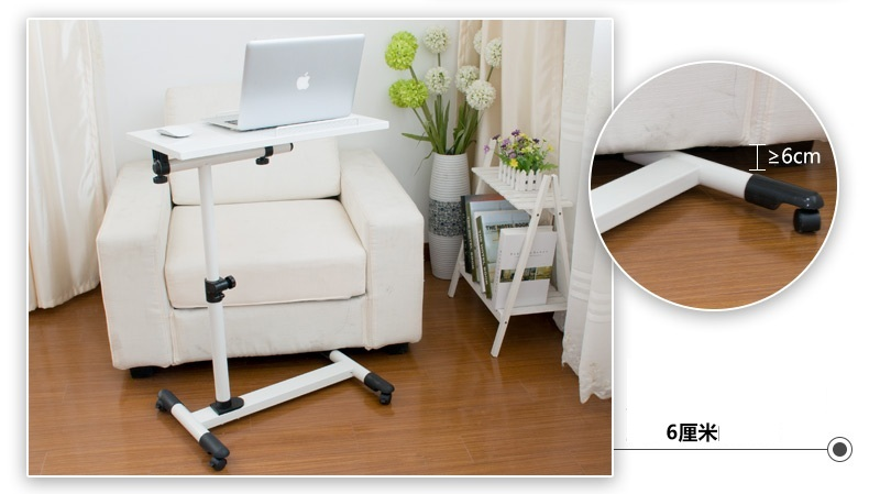 DG#6781 A simple language Wo steel lazy table bedside folding laptop comter desk on bed FREE SHIPPING
