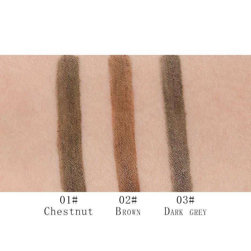 موسيقى زهرة ماركة ماكياج 3 ألوان غرامة رسم السائل الحاجب القلم مقاوم للماء الوشم سوبر العين الطبيعية قلم حواجب لطخة واقية