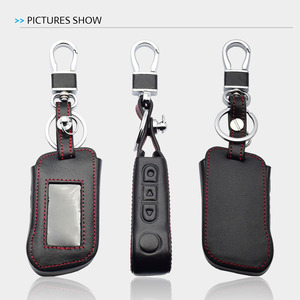 Image 5 - Real Leather Car Key Case For Starline A93 A63 A36 A39 A66 A96 Two Way Car Alarm LCD Remote Control Keychain Protect Cover Skin