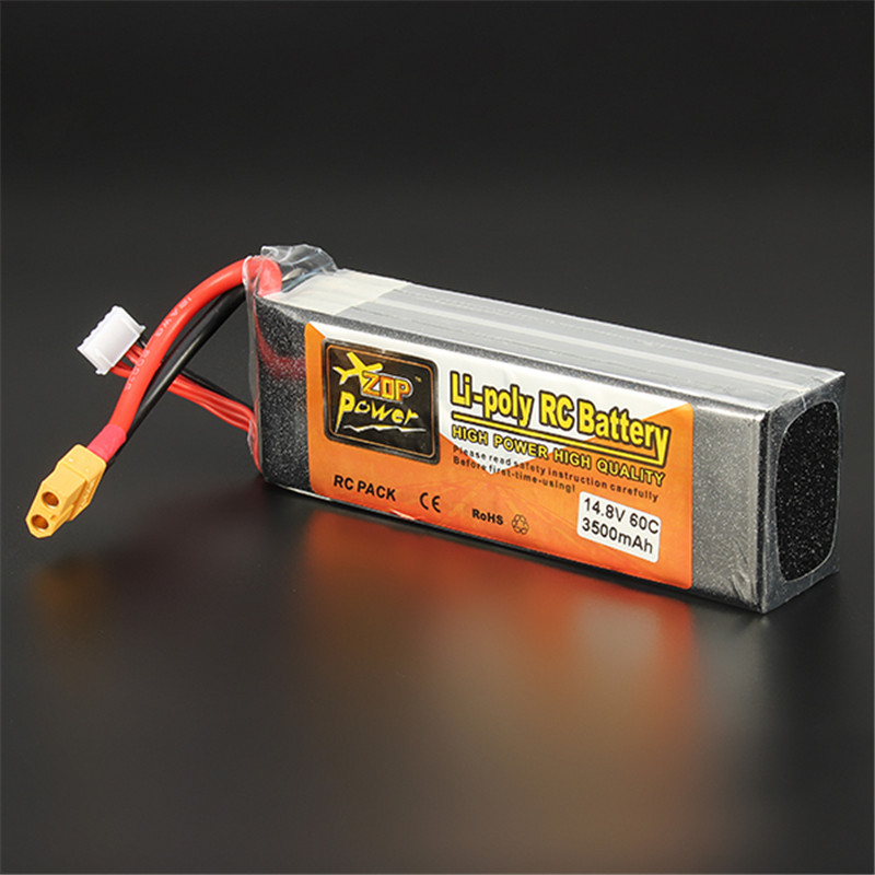 ZOP Power 14.8V <font><b>3500mAh</b></font> <font><b>4S</b></font> 60C <font><b>Lipo</b></font> Battery XT60 Plug Reachargeable For RC Model Airplane Helicopter image