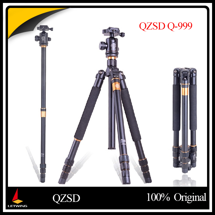 QZSD Q999 Q-999 Pro DSLR Professional Camera Tripod Monopod Photography Package Tour Portable + Ball Head Ballhead free shipping qzsd q999 portable tripod
