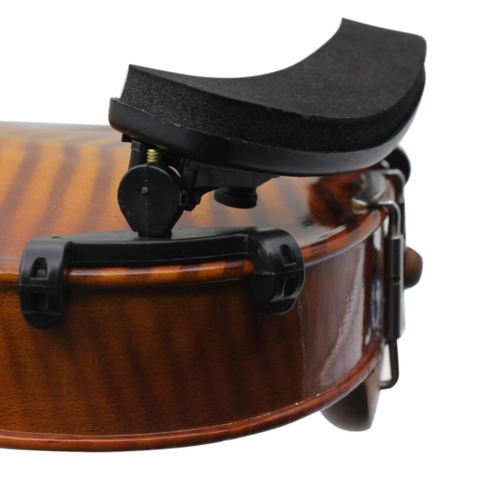 New Adjustable Violin Shoulder Rest Plastic EVA Padded for 1/8 1/2 1/4 Fiddle Violin Good Quality Violin Parts & Accessories violin shoulder rest for 1 2 violin brown black