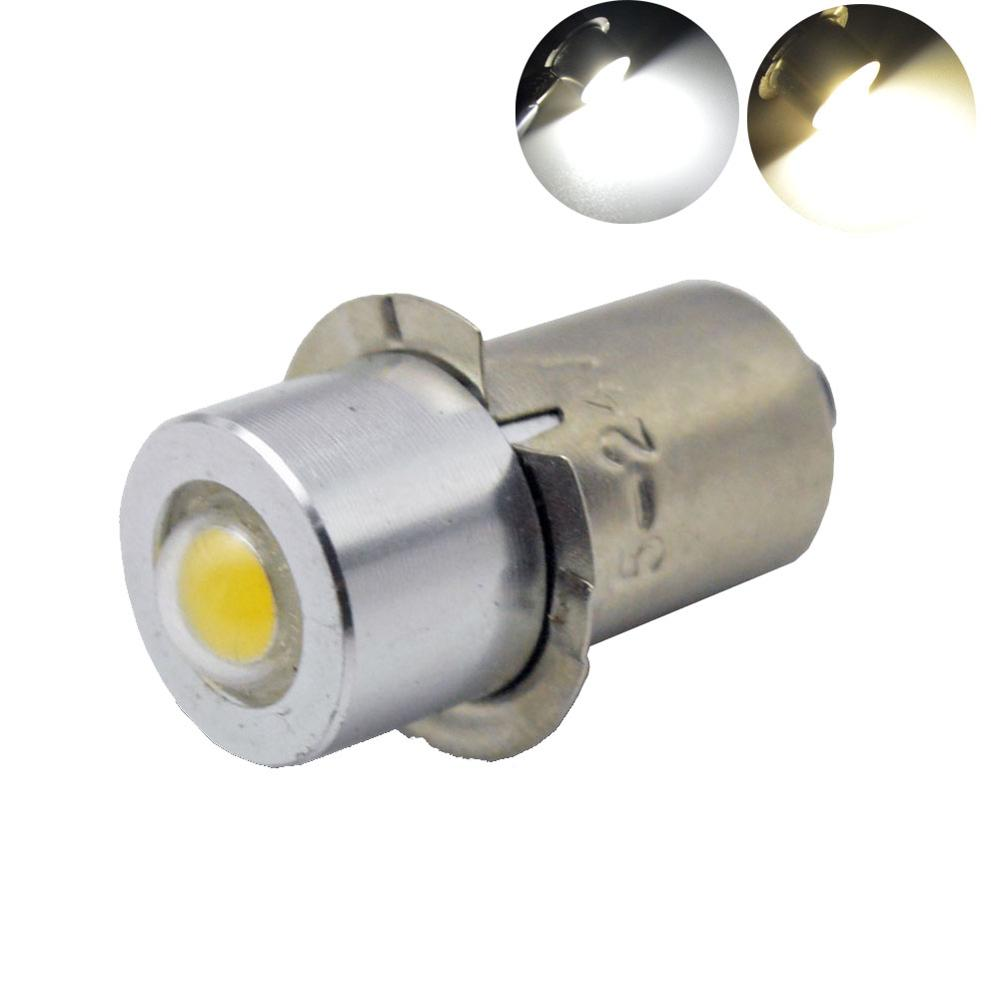 1PC P13.5S COB 1W Flashlight Bulb Emergency Light Bulbs DC3-18V LED Replacement Flashlight Bulbs Torch Light Work Light