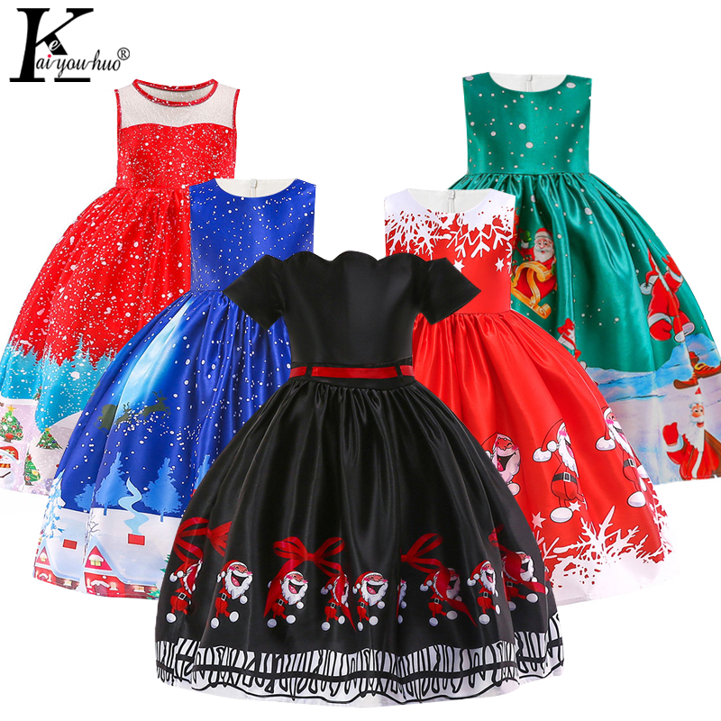 New Girls Christmas Kids Dresses For Girls Cinderella Dress Elegant Anna Elsa Princess Cosplay Party Halloween Performance Dress girls catwoman cosplay for kids christmas party performance halloween costume cute kids girls cat kitty princess dress with hair