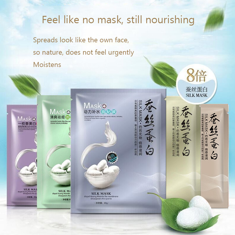 Hydrodynamic Silk Mask Water Facial Mask Combination Of Moisturizing Oils Acne Skin Care 1PCS
