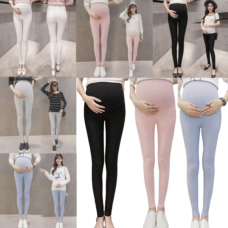Hot Sale Women Maternity Lady Leggings Pants Trousers Elasticity Stretchy Nursing High Waist CXZ(China)