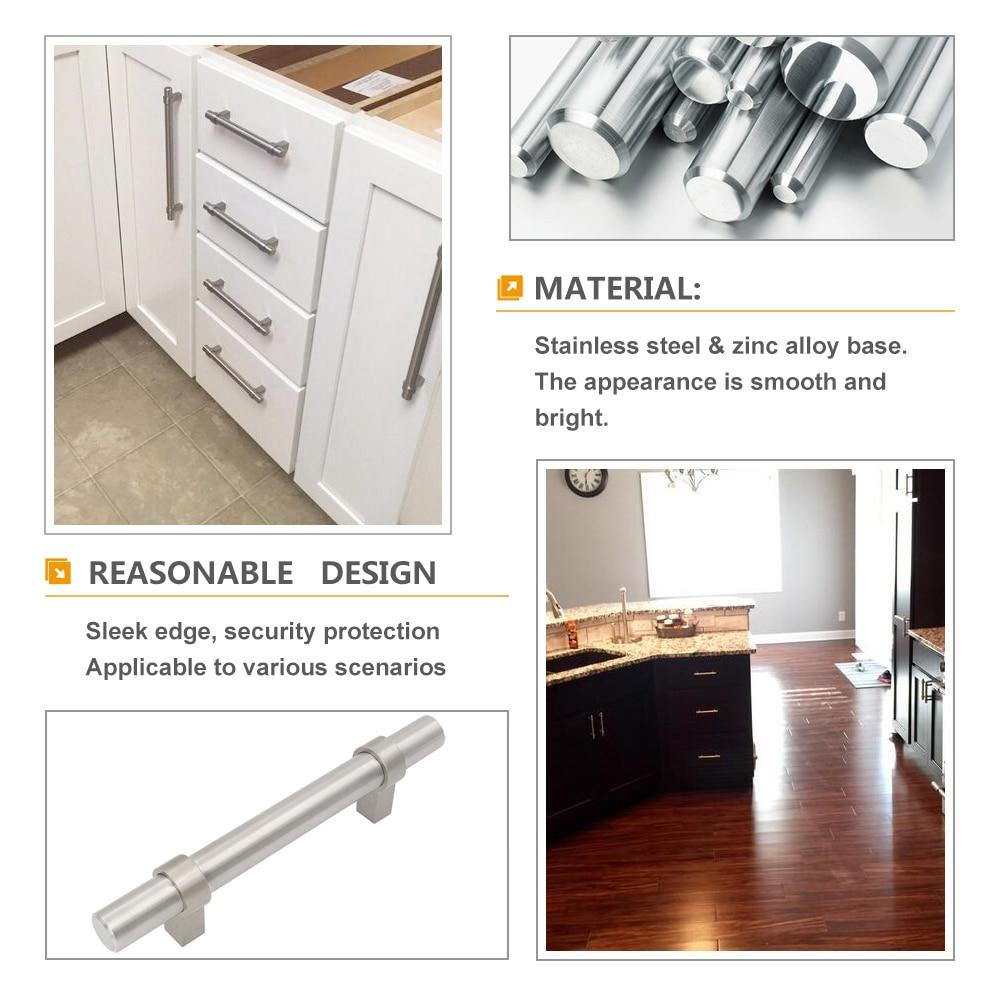 Homdiy HD201SN New Brushed Nickel Kitchen Cabinet Pulls 4 Pack