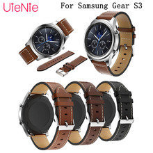 Genuine business Leather wristband 22mm Strap for Samsung Gear S3 bracelet huami amazfit stratos 2 2S 46mm