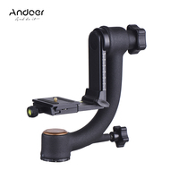 Andoer Aluminum Alloy Gimbal Head Pan Tilt Tripod Head Adopt for Arca Swiss Quick Release Plate for DLSR Camera high quality