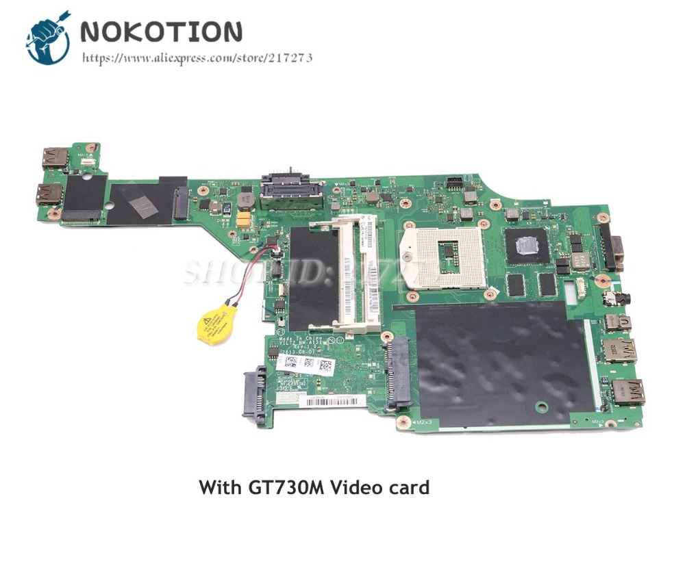 NOKOTION For Lenovo T440P Laptop Motherboard VILT2 NM-A131 00HM981 00HM983 04X4086 00HM991 PGA947 GT730M Video cardNOKOTION For Lenovo T440P Laptop Motherboard VILT2 NM-A131 00HM981 00HM983 04X4086 00HM991 PGA947 GT730M Video card