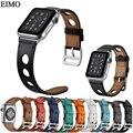 Ремешок для часов EIMO из натуральной кожи с петлей для Apple Watch  ремешок 42 мм 38 мм для iwatch 3/2/1  аксессуары для ремня