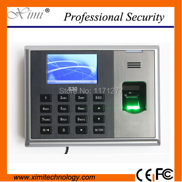Linux system Fingerprint time attendance TCP/IP communication 3inches TFT Screen and 3000 Fingerprint capacity S30  anuj kumar sharma and vipul sharma ofdm communication system