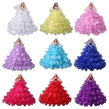 Wedding Dress Doll Toy Handmade Creative Girl Children Kids Valentines Day Gift House Decoration Accessories