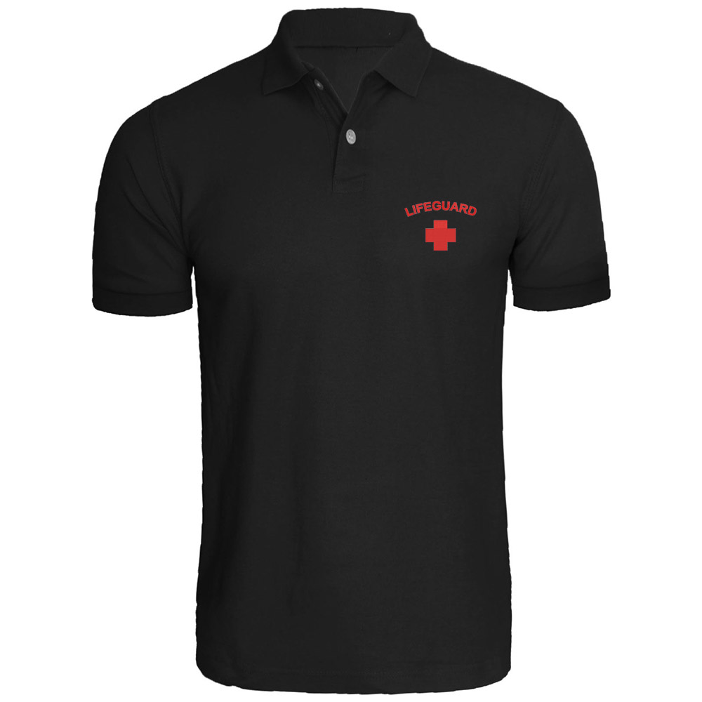 Mens Lifeguard Embroidered   Polo   Shirts