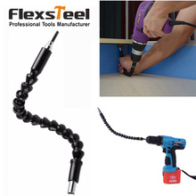 купить Flexsteel 30CM Flexible Shaft Drill Connecting Link for Electronic Drill Connection Screwdriver Drill Bit Holder Connect Rod по цене 202.56 рублей