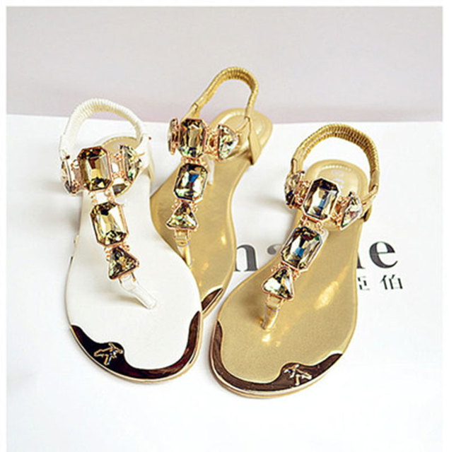 Summer Woman Sandals 2020 high quality Rhinestone women shoes flip flops ladies casual summer beach shoes women flats sandals