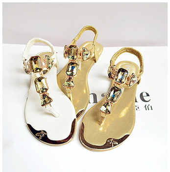 Woman Sandals 2019 fashion high quality Rhinestone women flip flops shoes ladies casual summer beach shoes - DISCOUNT ITEM  25% OFF All Category