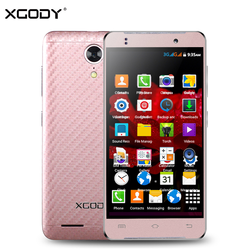 XGODY G10 4.5 Inch 3G Smartphone Android 5.1 MT6580 Quad Core 1GB RAM 8GB ROM 5MP WiFi GPS Dual SIM Unlocked Cell Phones Celular
