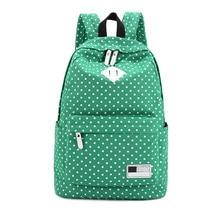 Fashion women backpack Polka Dot Canvas Printing Backpack for girls school backpacks Mochila Mujeres Backpacks Travel Rucksacks