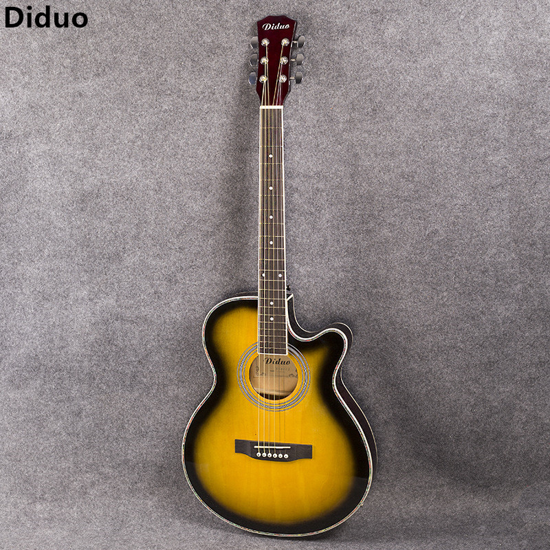 Diduo 40 Inch Acoustic Guitar Bass Rosewood Fingerboard Guitarra With 6 Strings Ultra Thin Bucket Body Folk Guitar With EQ diduo 40 inch 41 acoustic guitar beginner entry student male and female instrument wound guitarra