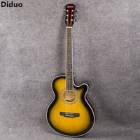 Diduo 40 Inch Acoustic Guitar Bass Rosewood Fingerboard Guitarra With 6 Strings Ultra Thin Bucket Body Folk Guitar With EQ