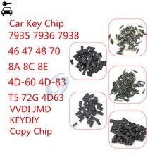 10 unidades/lote de chips de clave sin grabar a distancia para coche 46, 47, 48, 8E, T5, 7935, 7936, 4D, 4C, 8C, 4D63, 72G, 4D60, KD, JMD, VDI, 46, 48, 4D, Cloner