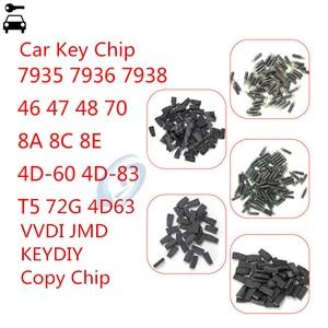 Image 1 - 10pcs/lot Car Remote Key Blank Chip 46 47 48 8E T5 7935 7936 4D 4C 8C 4D63 72G 4D60 KD JMD VVDI 46 48 4D King Copy Chip Cloner