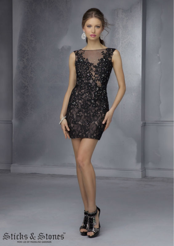 6b7b848a2d7 US $98.99 |Lace Homecoming Dresses 2014 Under 100 Beading Sexy Illusion  Back Black Summer Dress Tight Homecoming Dress vestido de festa-in  Homecoming ...