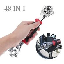 48 in1 Metric Swivel Wrench Tiger Ratchet Spanner Socket Dog Bone Style Car Repair Tool Hand Tools
