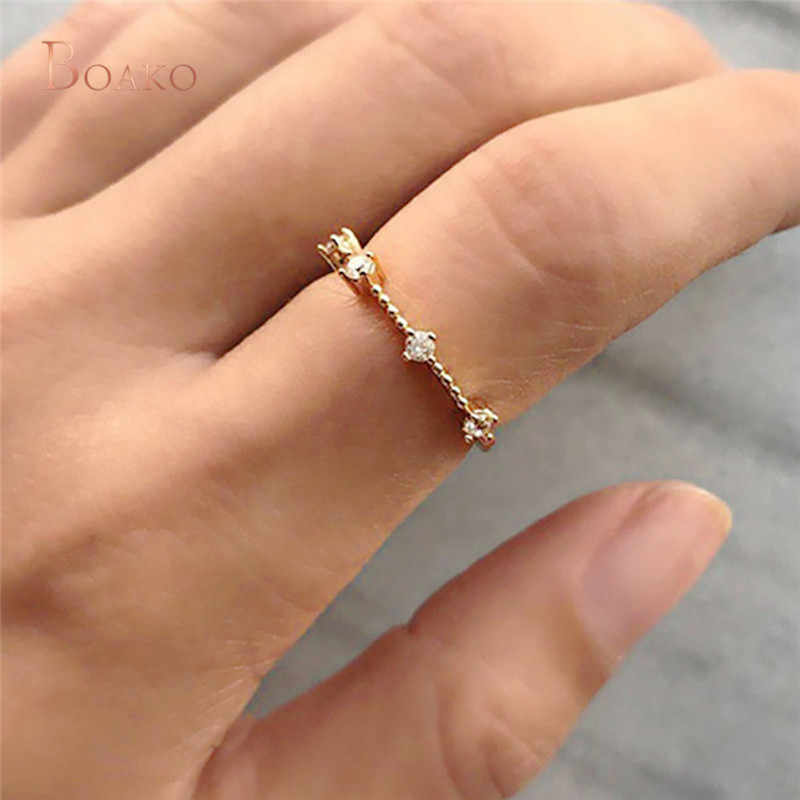 Princess Cut Cubic Zircon Engagement Ring Vintage Rose Gold Color Promise Wedding Rings For Women Simple Jewelry Best Gift Z4 Aliexpress