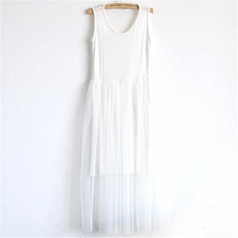 Новинка 2019 года, стильное длинное платье макси для женщин, модное повседневное газовое платье без рукавов, винтавечерние праздничное платье, Vestidos, женская одежда, su0030