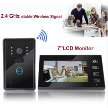 Home Security Monitor 2.4G Wireless Video Door Phone Intercom Doorbell Camera with 7