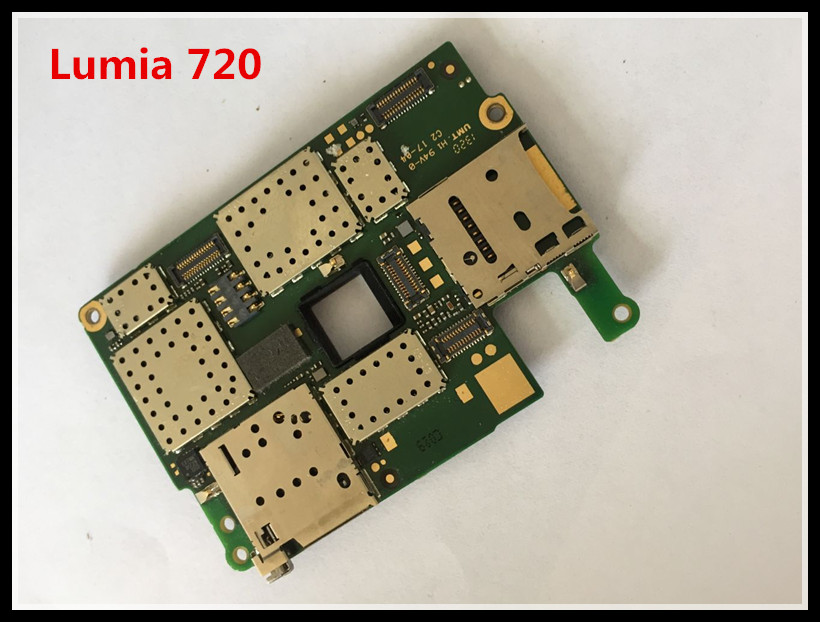 International language!~Good quality Original Motherboard With cable For Lumia 720 Free shipping