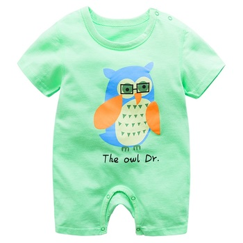 Unisex noworodka śpioszki dla niemowląt bawełna Baby Boy ubrania kreskówki dla niemowląt kombinezony letnia dziewczyna ubrania z krótkim rękawem dziewczynek pajacyki tanie i dobre opinie changbvss COTTON W wieku 0-6m 7-12m Cartoon Dla dzieci O-neck Swetry ddPPF018 Pasuje prawda na wymiar weź swój normalny rozmiar