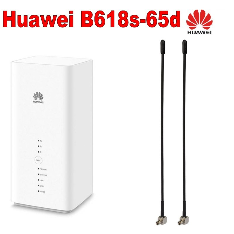 Huawei B618 B618S-65D Cat11 600 Mbps 4G LTE Modem plus con 2 pcs 4g antenna