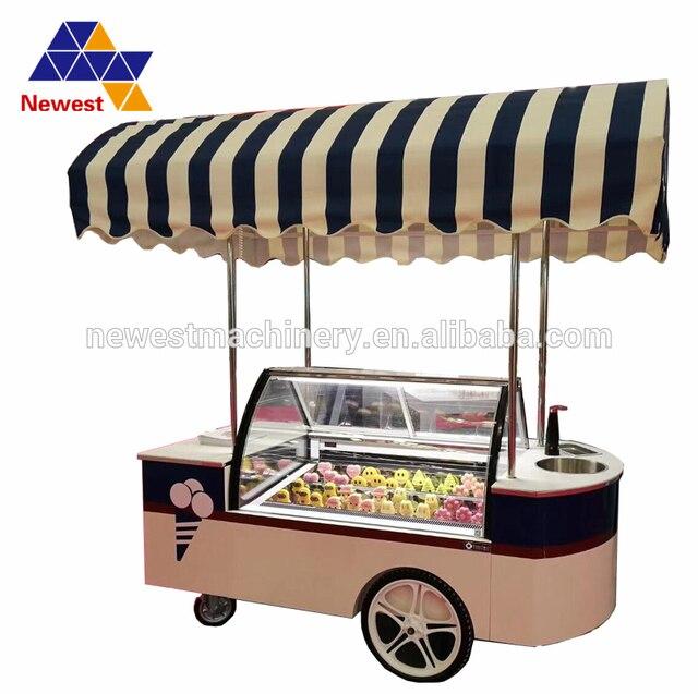 Ice Cream Cart For Sale >> Factory Price Gelato Cart For Sale Gelato Display Cart Mobile Food