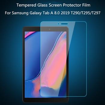 Protetor de tela de vidro temperado para Samsung Galaxy Tab A 8.0 2019 T290 T295 T297 SM-T290 T385 8.4 2020 Filme protetor de tablet