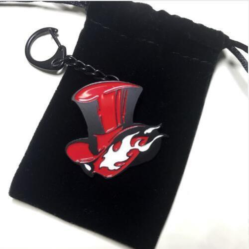 Hot Game Persona 5 P5 Take Your Heart Red Metal Badge Brooch Pin Chest Button Keychain Keyring Ornament Cosplay Collection Gift
