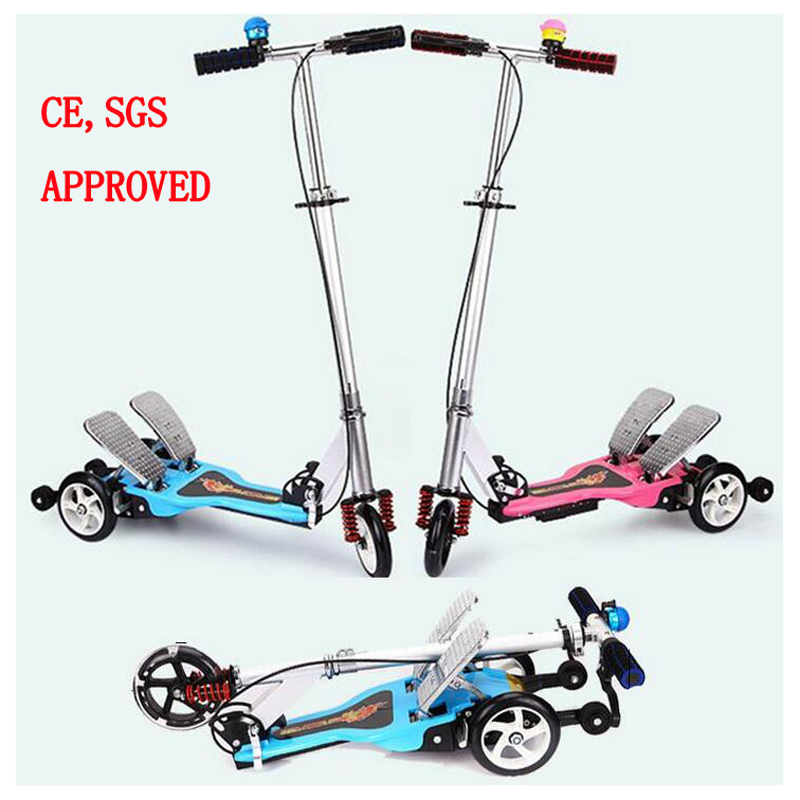 цена  Easy Ride 2 Pedal Scooter Dual Pedal Scooter Aluminum Alloy Frame Double Pedal Scooter With Brake Spring, CE was approved  онлайн в 2017 году