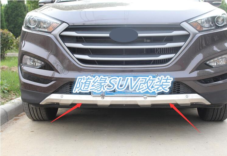 car styling case For Hyundai Tucson 2015 2017 Stainless Steel Front Rear Bumper Protector accessories car styling 2pcs