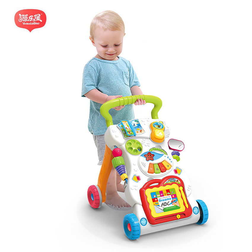 45cm Baby stroller Sit-to-Stand Learning Walker Multifunction Outdoor Toy Ride On Car Stokke Activity Walker Gift for Baby cute baby swing car walker without foot pedal scooters toddler stroller kids toy birthday gift