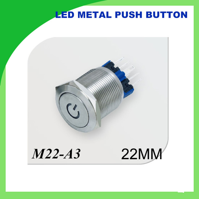 22mm 12v Led Push Button Metal Switch Onoff Car Boat Diy With
