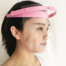 Стоматологическая лицевая защита очки Рамка противотуманная защитная маска+ 10 пластиковая защитная пленка
