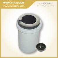 10pcs 1 KG quartz Graphite melting crucible and 12 pcs rubber base